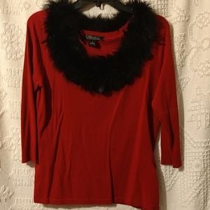 Cest City Red Sweater